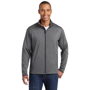 Sanmar ST853 - Sport-Tek Stretch Contrast Full Zip Jacket