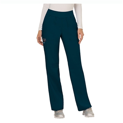 Cherokee WW110 - Revolution Women's Mid Rise Pull-on Cargo Straight Leg Pant