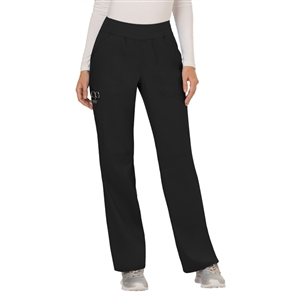 Cherokee Revolution WW110 - Women's Mid Rise Pull-on Cargo Straight Leg Pant for White Oak