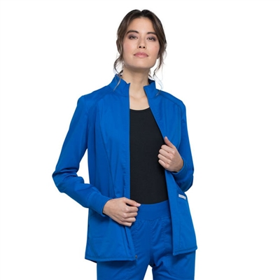 Cherokee WW301 - Revolution Women's Hi-Low Solid Scrub Jacket