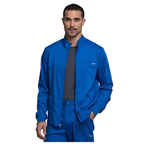 Cherokee WW320 - Revolution Men's Zip Up Solid Scrub Jacket