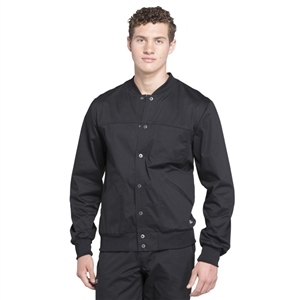 Cherokee WW330 - Core Stretch Men's Snap Front Solid Scrub Jacket