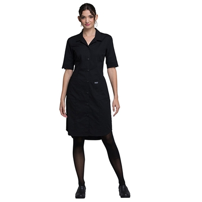 Cherokee Professional WW500 - Women's Button Front Solid Scrub Dress