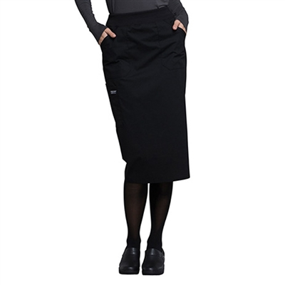 Cherokee Professional WW510 - Women's Elastic Waistband Pull On Scrub Skirt