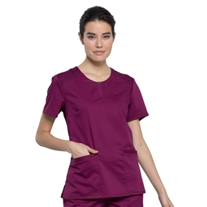 Cherokee WW602 - Revolution Women's Crew Neck Solid Scrub Top