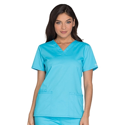 WW630 - Core Stretch Women's V-Neck Solid Scrub Top