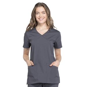 Cherokee Professional WW655 - Women's Mock Wrap Solid Scrub Top