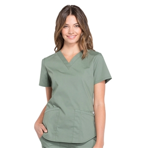 Cherokee Professional WW665 - Women's V-Neck Solid Scrub Top