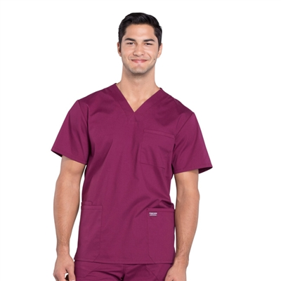Cherokee Professional WW695 - Men's V-Neck Utility Solid Scrub Top