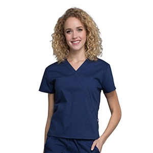 Cherokee Professional WW705 - Women's Mock Wrap Solid Scrub Top