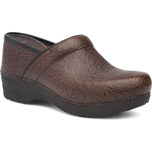 Dansko - Ladies Pro XP 2.0 Brown Floral Tooled Leather