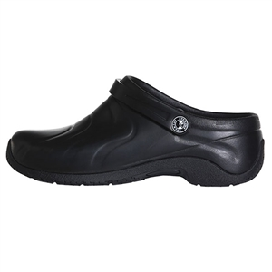 Anywear by Cherokee Wide Women's Zone Convertible Clog in Black Wide