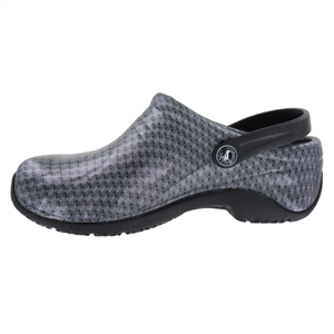 Anywear by Cherokee Women's Zone Convertible Clog in pattern BSPN - Black / Silver