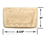 Shaw CS535 - Soap Dish - Resin Faux Stone - Neutral Travertine Color - Bath Accessory