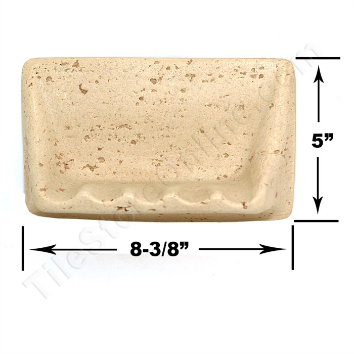 Shaw cs535 soap dish resin faux stone neutral for Stone coloured bathroom accessories