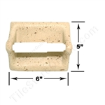 Shaw CS536 - Toilet Tissue Paper Holder - Resin Faux Stone - Neutral Travertine Color - Bath Accessory