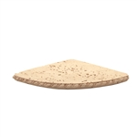 Shaw - CS543 Rope Deco Corner Shampoo Shelf Caddy - Resin Faux Stone Bath Accessory – Neutral Travertine Color