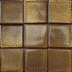 Bristol Studios - Cosmic - G2262 Solar - 4X4 Handcrafted Decorative Tile
