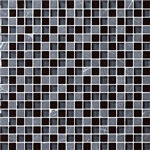 Bristol Studios - Crystal Stone - G2275 Night Squares - 5/8 X 5/8 Square Glass & Stone Tile Mosaic