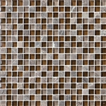 Bristol Studios - Crystal Stone - G2279 Cafe Squares - 5/8 X 5/8 Square Glass & Stone Tile Mosaic