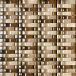 Bristol Studios - Mosaics De Verre - G2329 Sable Bows - Arched Glass Basketweave Mosaic