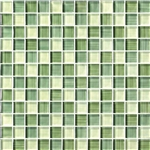Bristol Studios - Painted Crystal Glass - G2354 Mint - 1X1 Glass Tile Mosaic - Glossy