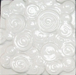 Bristol Studios - Nouveau - G2451 Chinon Blanc White Relief Deco - 6X6 Hand Crafted Decorative Tile