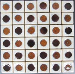 Bristol Studios - Dots & Decos - G2459 Malt - Hand Crafted Contoured Decorative Mosaic Tile
