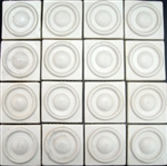Bristol Studios - Dots & Decos - G2793 Drop Cream - Hand Crafted Contoured Decorative Mosaic Tile