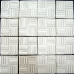Bristol Studios - Dots & Decos - G2794 Cube Cream - Hand Crafted Contoured Decorative Mosaic Tile