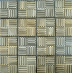 Bristol Studios - Dots & Decos - G2796 Cube Bronze - Hand Crafted Contoured Decorative Mosaic Tile