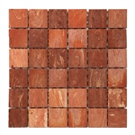 Bristol Studios - Terra Mosaics - G4380 Sienna - 2X2 Square Terracotta Handcrafted Unglazed Mosaic Tile