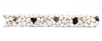 Micro Mosaic Stone Liner Border - MM1004 - Marble Pebble Listello Strip - Tumbled Finish