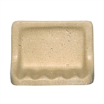 CoverQuik NAT01SD - Soap Dish - Resin Faux Stone - Dark Noce Travertine Color - Bath Accessory
