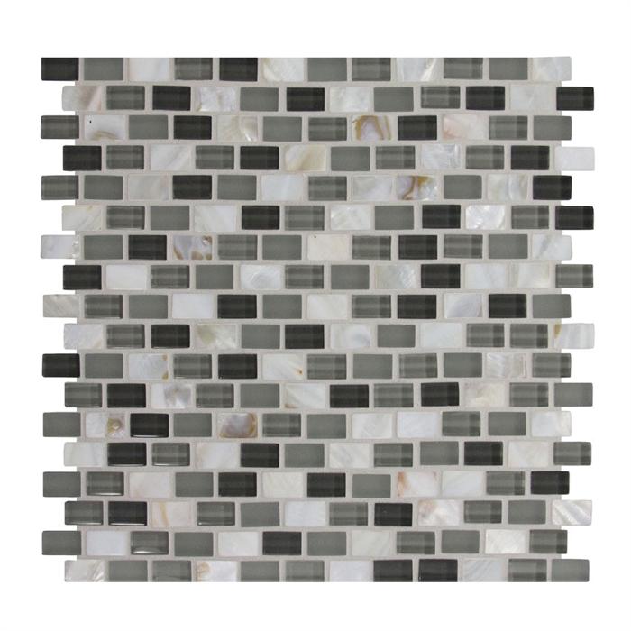Gbi Glshell1mos Lowes 0282575 Gl Shell Brick Subway Mosaic