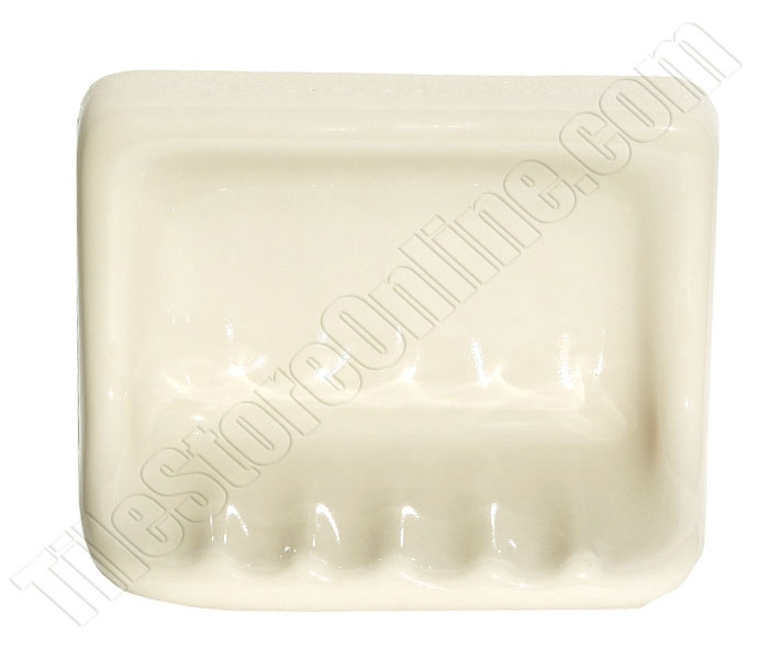 Daltile Ba725 Ceramic Tub Soap Dish 0135 Almond 5x7 Shower Bath Tub Soap Dish Almond