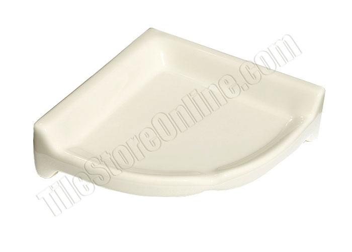 Daltile Ba780 Ceramic Larger Corner Shampoo Shelf 0135 Almond 8 Shower Bath Bathroom