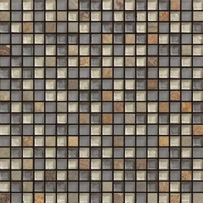 Elysium Milano Sandy Mini 5 8 X Gl Slate Stone Mosaic Tile Odd Lot