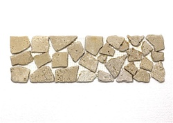 Travertine Border - 4 X 13 Tumbled Travertine Random Liner Border - Light