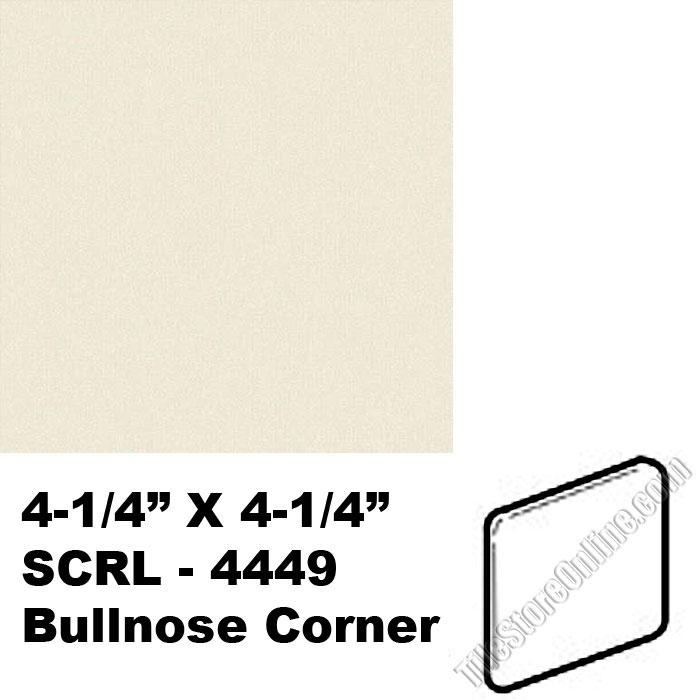 Daltile 0135 Almond 425 X 425 Bullnose Corner Scrl4449 Dal
