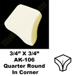 Daltile - 0135 Almond - 3/4 X 3/4 Quarter Round In Corner - AK106 Dal Tile Ceramic Trim Tile
