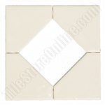 "Daltile - Fashion Accents - 8.5"" X 8.5"" Diamond Insert - FA52 0135 Almond - Dal Tile Ceramic Decorative Accessory Tile"