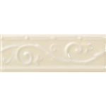 "Daltile - Fashion Accents - 3"" X 8"" Ivy Listello - FA52 0135 Almond - Dal Tile Ceramic Decorative Border Liner Tile"