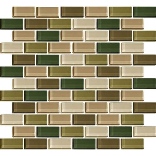 Daltile Color Wave Glass CW Rain Forest Blend X Brick - Daltile tucson az