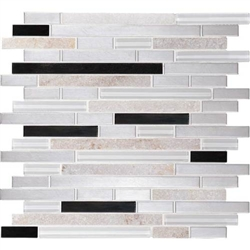 Daltile Endeavors - F163 Avant Garde - 5/8 X Linear Glass Stone and Metal Mosaic