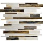 Daltile Serenade Stained Glass Mosaic - F183 Music City - Random Linear Glass Tile Mosaic