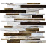 Daltile Serenade Stained Glass Mosaic - F185 Broadway - Random Linear Glass Tile Mosaic