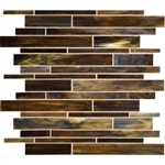 Daltile Serenade Stained Glass Mosaic - F186 Indie - Random Linear Glass Tile Mosaic