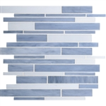 Daltile Serenade Stained Glass Mosaic - F188 Techno - Random Linear Glass Tile Mosaic