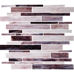 Daltile Serenade Stained Glass Mosaic - F191 Crescent City - Random Linear Glass Tile Mosaic
